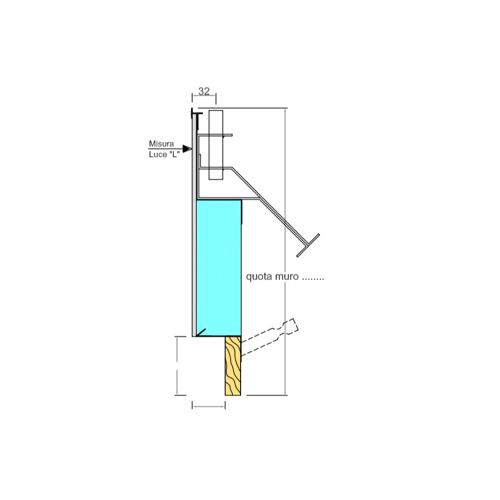 Controtelaio Taglio Termico Certificato per cappotto esterno con tubolare per fissaggio persiana