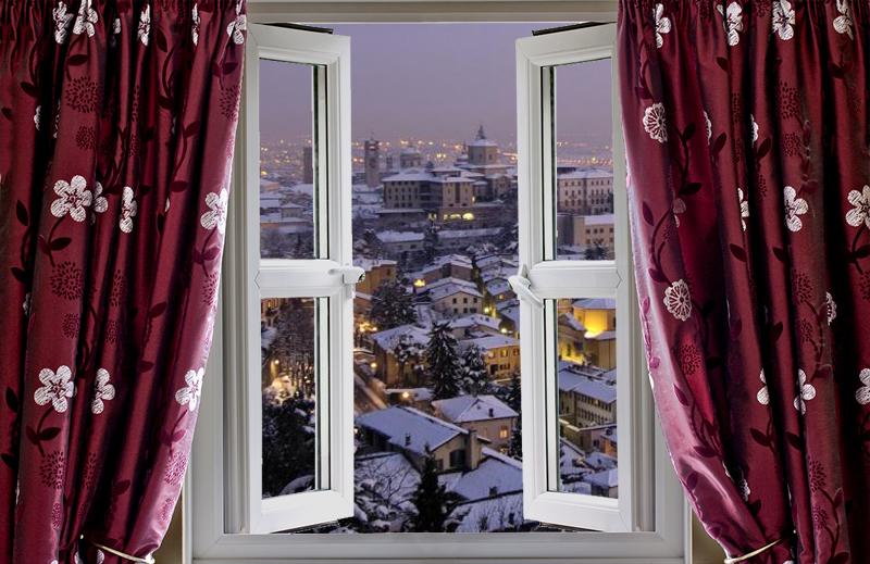 finestra bergamo neve