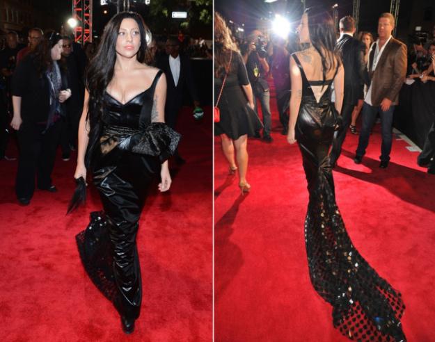 lady gaga abbigliamento PVC moda