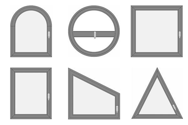 Le diverse forme delle finestre in PVC di pedretti serramenti