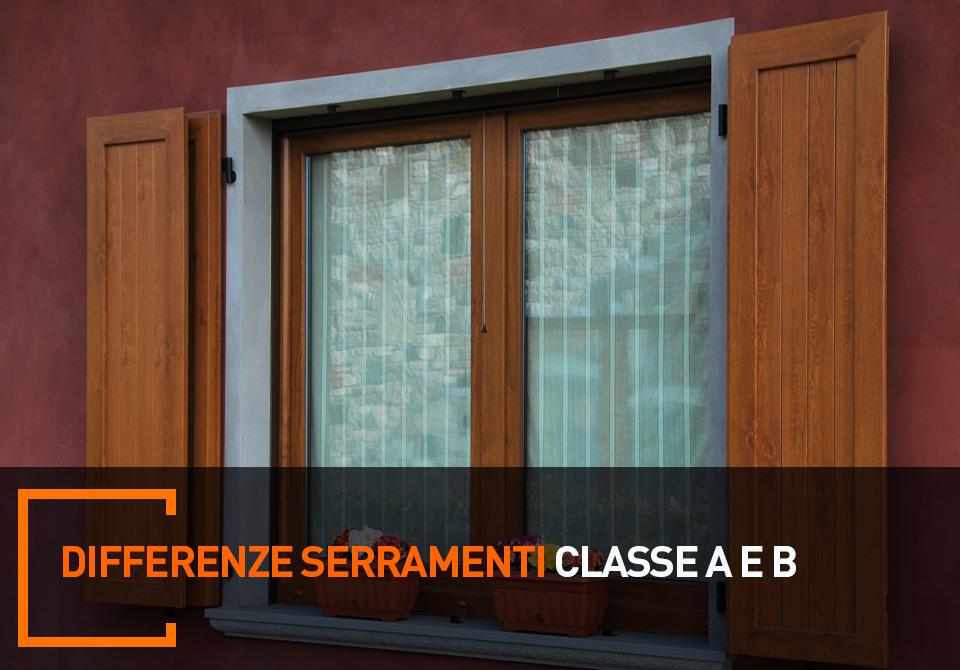 differenza serramenti classe A e B