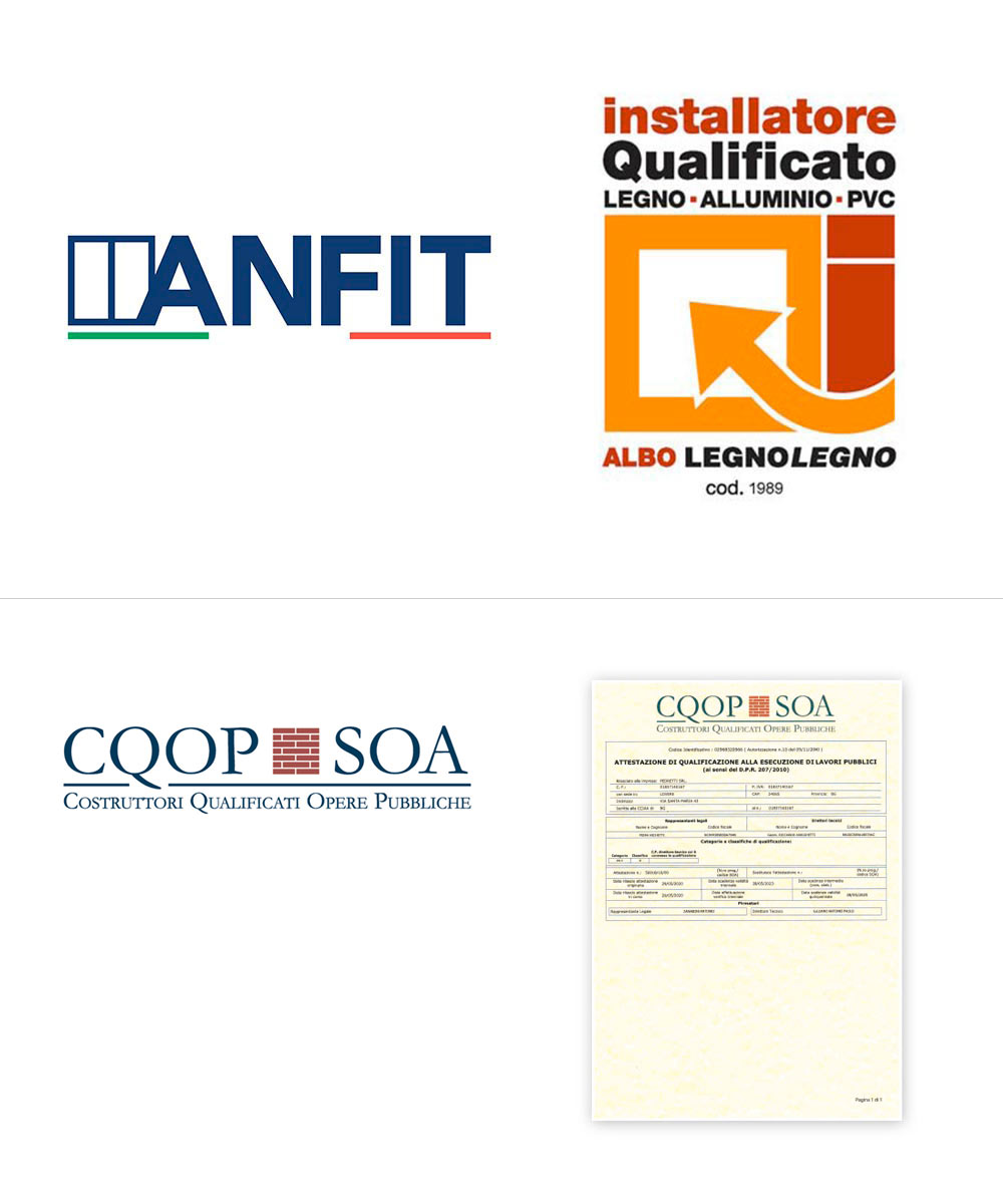Certificazioni Pedretti Serramenti